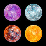 Exoplanet set high resolution texture Stock Photo