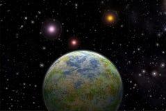 Exoplanet straniero del pianeta Fotografia Stock Libera da Diritti