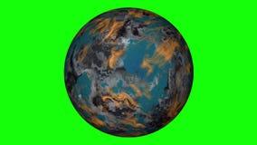 Exoplanet su uno schermo verde royalty illustrazione gratis