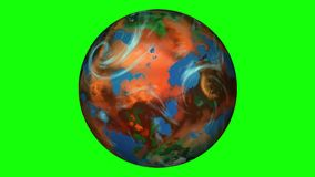 Exoplanet su uno schermo verde illustrazione vettoriale