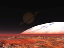 Exoplanet utforskning vektor illustrationer