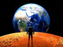 Exoplanet utforskning 3d isolerade den framförda videopd vita världen Royaltyfria Foton