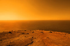 Exoplanet with vast ocean Stock Image