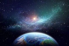 Exoplanet w głębokiej przestrzeni fotografia stock