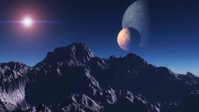 Exoplanetexploratie Stock Illustratie