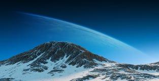 Exoplanets dans des éléments de rendu de l'espace 3D de ce furnishe d'image Photo stock