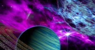 Exoplanets en el W3 de la galaxia ilustración del vector