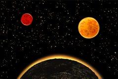 Exoplanets of extrasolar planeten Vector illustratie Royalty-vrije Stock Afbeeldingen