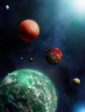 Green Planet Exoplanets Stock Image