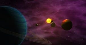 Exoplanets w cudzoziemskim układzie słonecznym ilustracji