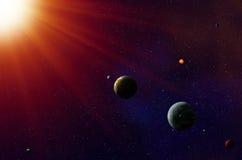 Exoplanetszonnestelsel Stock Afbeeldingen