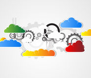 Exorbitant technologieconcept Virtuele macht van zaken Stock Foto's