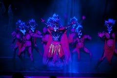 Exorcise--Ιστορικός μαγικός ο μαγικός δράματος τραγουδιού και χορού ύφους - Gan Po Στοκ Εικόνα