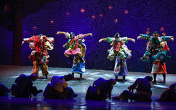 """Exorcism-Dance drama """"The Dream of Maritime Silk Road"""". Dance drama """"The Dream of Maritime Silk Road"""" centers on the plot of two generations of a sailor Royalty Free Stock Photography"""