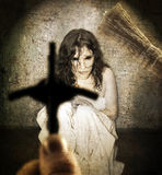 Exorciste   Photo stock