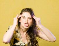 Exoressive portrait Stock Photos