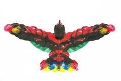 Exotic acrylic bird Royalty Free Stock Photography