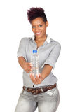 Exotic african girl with a water bottle Stock Photo