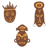 Exotic African masks Royalty Free Stock Photo