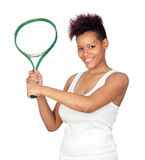 Exotic african tennis player Stock Image