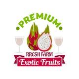 Exotic asian dragon fruit or pitahaya symbol Stock Photos