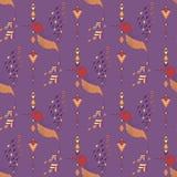Exotic aztec birds seamless pattern. Geometric abstract tribal style. Vector illustration Stock Photos