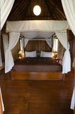 Exotic bamboo hut bedroom Royalty Free Stock Images