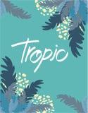 Exotic banner. vector illustration