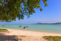 Exotic Bay of Rawai in Phuket island Thailand Royalty Free Stock Images
