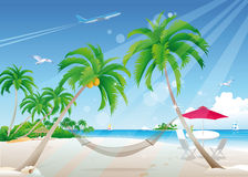 Exotic beach royalty free illustration