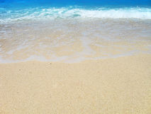 Exotic beach background. Golden sand and turquoise waters - the perfect holidays background Stock Photography