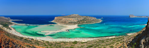 Exotic beach - Balos Lagoon, Crete. A high-resolution panorama of one of the most exotic places in Europe: Balos Lagoon in Crete, Greece Royalty Free Stock Photos