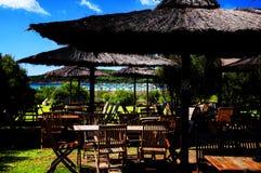 Exotic beach bar Stock Photos