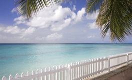 Exotic beach in Barbados royalty free stock photos