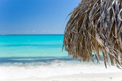 Exotic beach in Cayo Largo. Cuba Royalty Free Stock Images