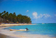 Exotic Beach in Dominican Republic Royalty Free Stock Photos