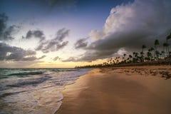 Exotic Beach in Dominican Republic, Punta Cana Stock Photos