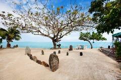 Exotic beach in French Polynesia Stock Photo