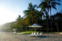 Exotic beach resort Stock Image
