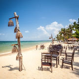 Exotic Beach Restaurant Royalty Free Stock Photography