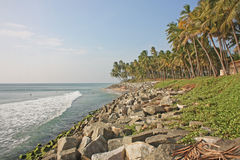 Exotic beach in Varkala. Royalty Free Stock Image