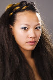 Exotic beautiful young mixed race woman stock photography