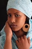 Exotic beauty. Beautiful young dark skin female Royalty Free Stock Images