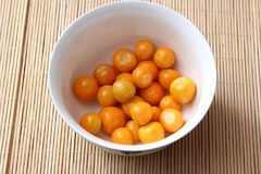 Exotic berries. Some exotic berries with the name physalis royalty free stock images