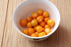 Exotic berries. Some exotic berries with the name physalis royalty free stock photography