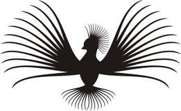 The exotic bird has spread wings Stock Photo