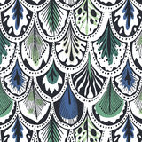 Exotic blue-green feather pattern. Exotic blue green feather pattern Stock Photography