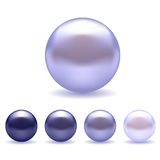 Exotic Blue Pearls Set Royalty Free Stock Images