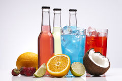 Exotic bottle alcohol cocktail Stock Image