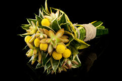 Exotic bouquet on black background Royalty Free Stock Images